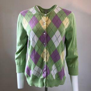 Argyle cardigan